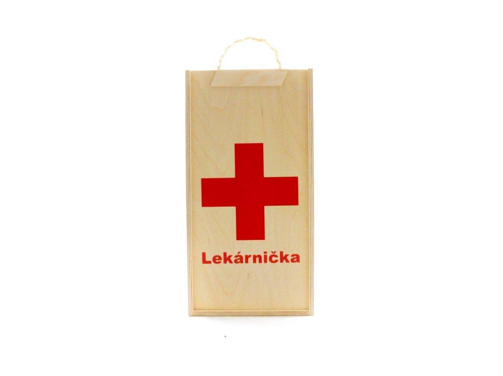 Drevená kazeta Lekárnička