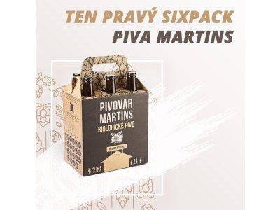 Martins kartónový obal na 6 fliaš piva
