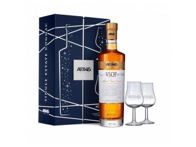 ABK6 Cognac VSOP s 2 pohármi 40 % 0,7 l