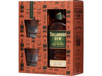 Tullamore Dew s 2 pohármi 40 % 0,7 l
